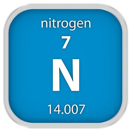 El nitrgeno elemento en la tabla peridica de mendeleev fotos material de nitrgeno en la tabla peridica parte de una serie photo urtaz Choice Image