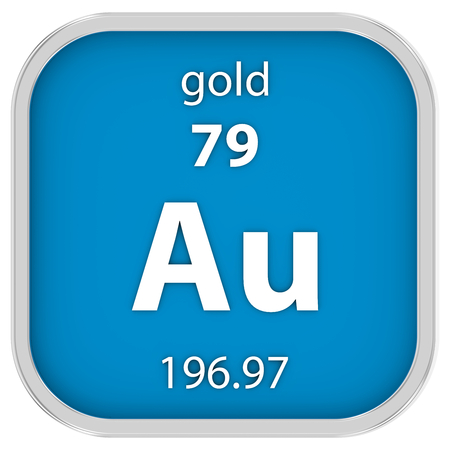 affinity: Gold material on the periodic table. Part of a series.