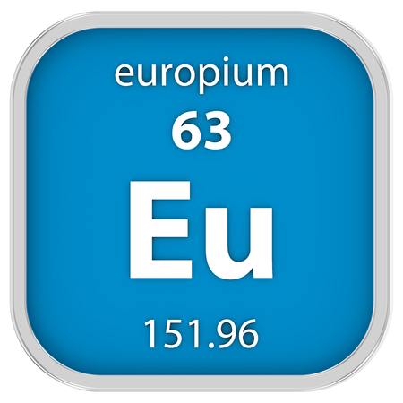 Europium Material On The Periodic Table Part Of A Series Stock