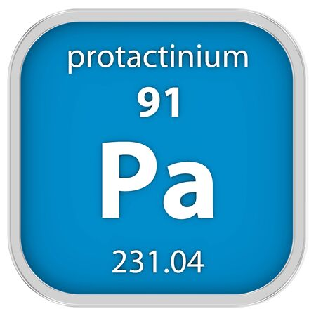 Protactinium material on the periodic table. Part of a series. photo