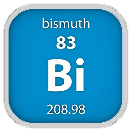 bismuth: Bismuth material on the periodic table. Part of a series.