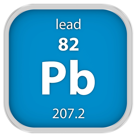 Lead material on the periodic table. Part of a series. photo