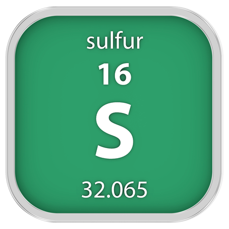 Sulfur material on the periodic table