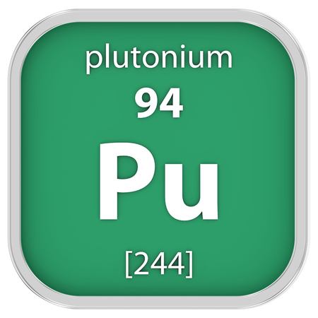 Plutonium material on the periodic table Stock Photo