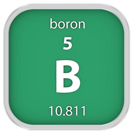 boron: Boron material on the periodic table