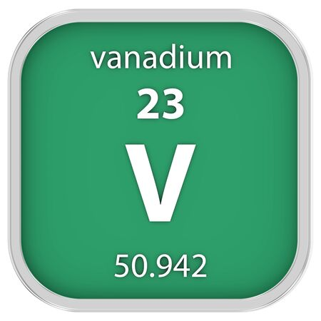 affinity: Vanadium material on the periodic table