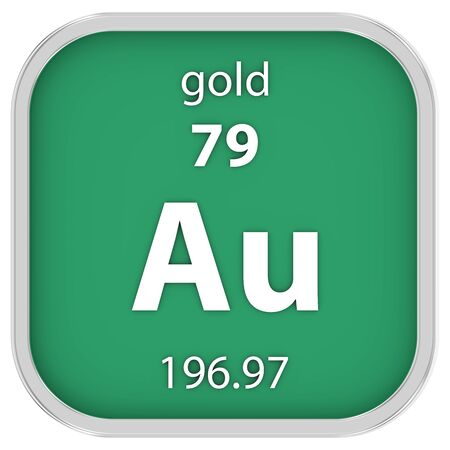 affinity: Gold material on the periodic table