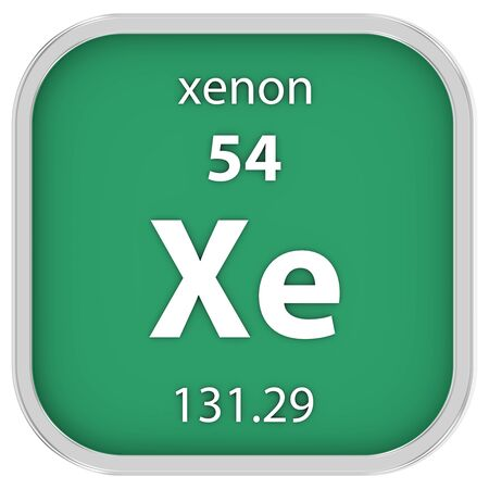 affinity: Xenon material on the periodic table
