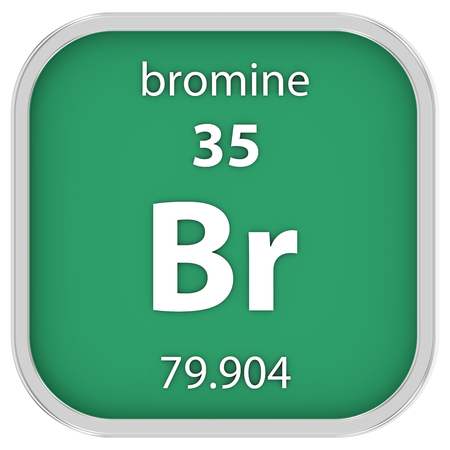 Bromine material on the periodic table photo