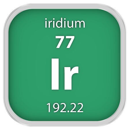 affinity: Iridium material on the periodic table