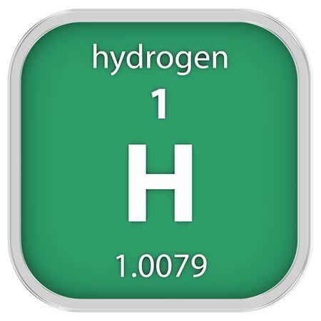 hidr�geno: Material de hidr�geno en la tabla peri�dica Foto de archivo