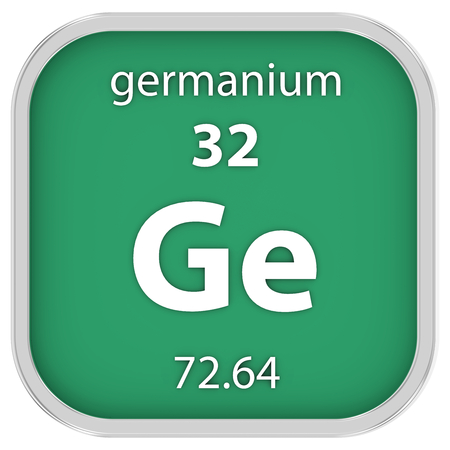 Germanium Material On The Periodic Table Stock Photo Picture And