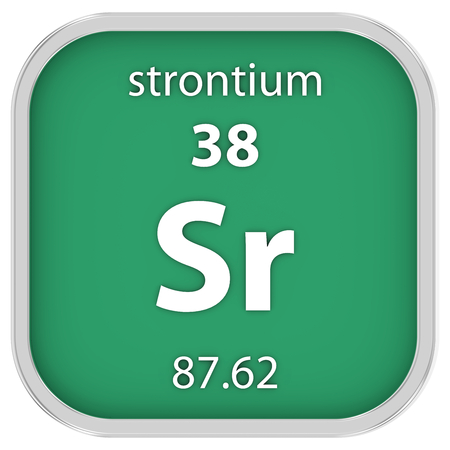 Strontium Material On The Periodic Table Stock Photo Picture And