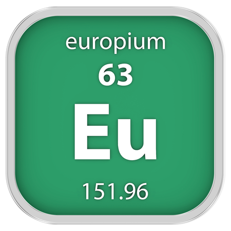 Europium Material On The Periodic Table Stock Photo Picture And
