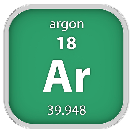 argon: Argon material on the periodic table