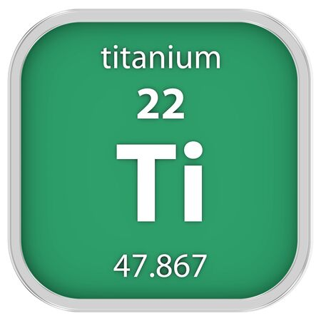 Titanium material on the periodic table photo