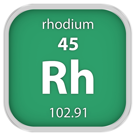 affinity: Rhodium material on the periodic table