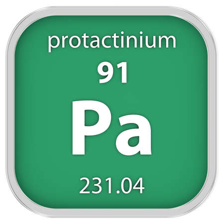 affinity: Protactinium material on the periodic table Stock Photo