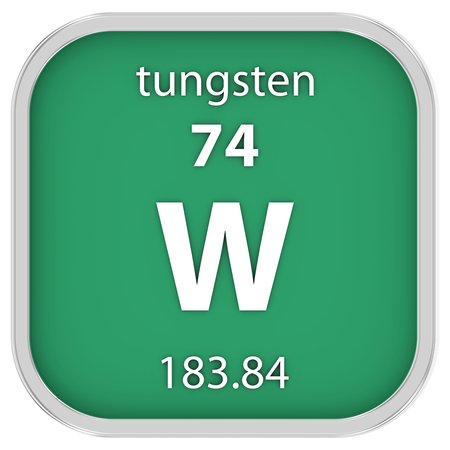 Tungsten material on the periodic table