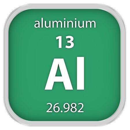 affinity: Aluminium material on the periodic table