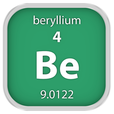 affinity: Beryllium material on the periodic table Stock Photo
