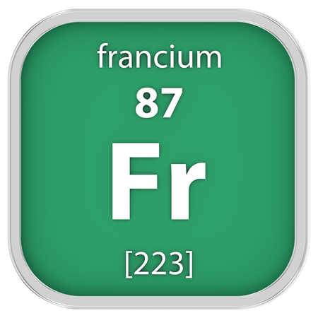 affinity: Francium material on the periodic table Stock Photo
