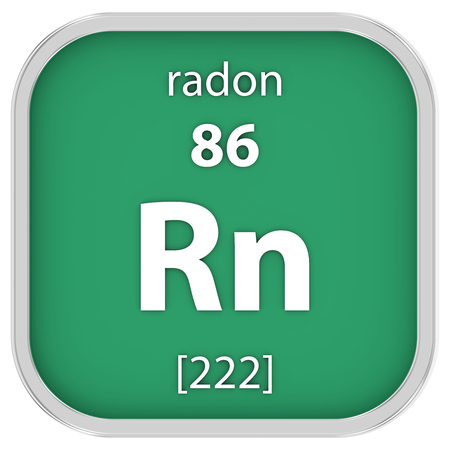 radon: Radon material on the periodic table Stock Photo