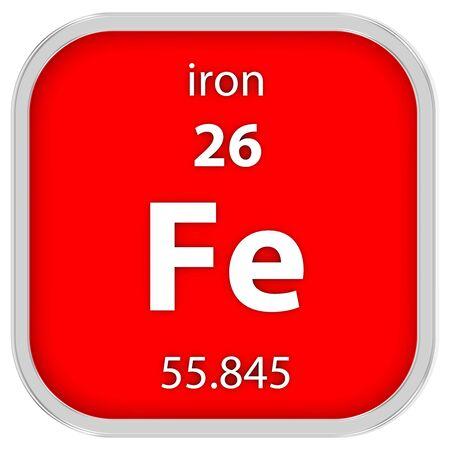 Eisenwerkstoff des Periodensystems Standard-Bild - 41159041