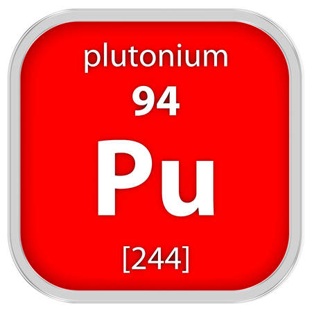 plutonium: Plutonium material on the periodic table Stock Photo