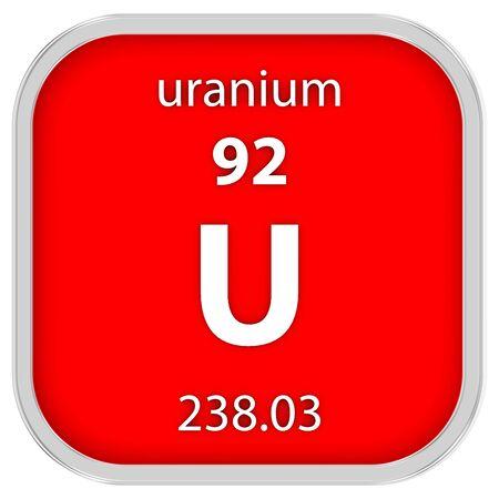 Uranmaterial des Periodensystems Standard-Bild - 41159049