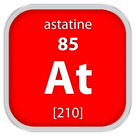 Astatine Material im Periodensystem Standard-Bild - 41159056