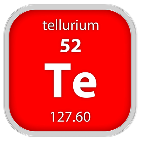 Tellurium Material On The Periodic Table Stock Photo Picture And