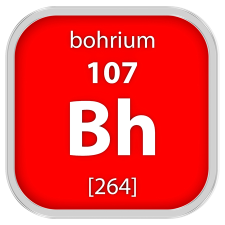 affinity: Bohrium material on the periodic table