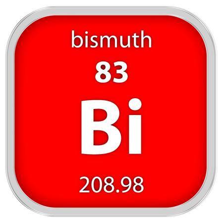 Bismuth Material im Periodensystem Standard-Bild - 41159078