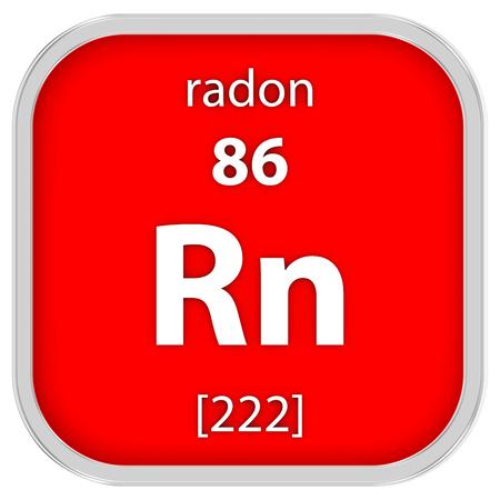 Radon materiaal op het periodiek systeem Stockfoto