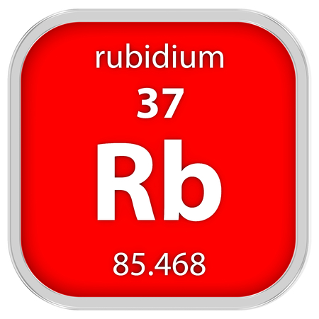 Rubidium Material des Periodensystems Standard-Bild - 41159102