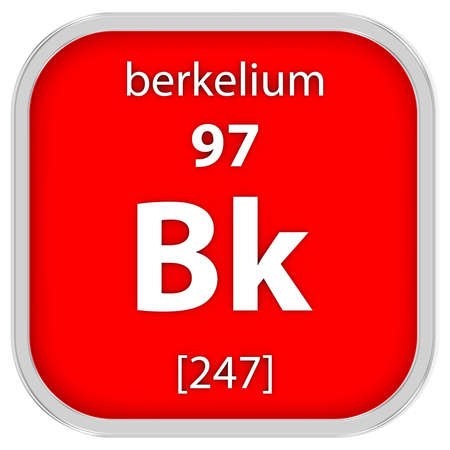 Berkelium Material im Periodensystem Standard-Bild - 41159124