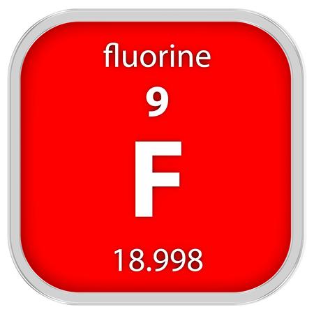 Fluor Material im Periodensystem Standard-Bild - 41159072