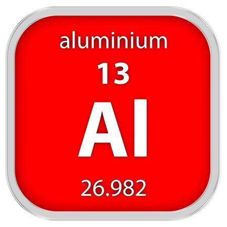 aluminium: Aluminium material on the periodic table