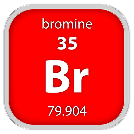 Bromine Material On The Periodic Table Stock Photo Picture And