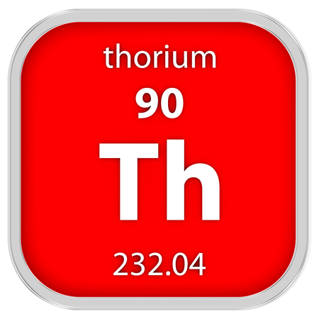 thorium: Thorium material on the periodic table Stock Photo