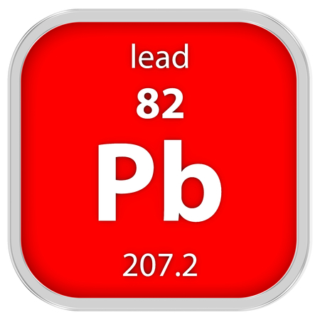Lead material on the periodic table photo