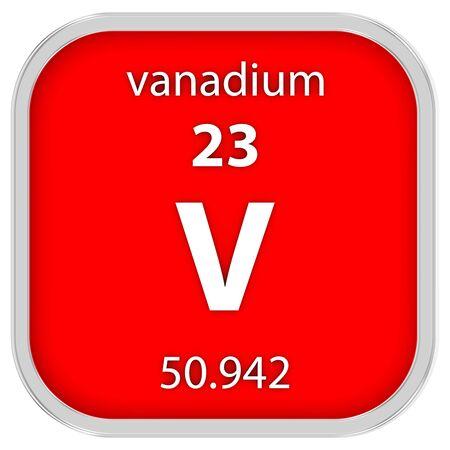 vanadium: Vanadium material on the periodic table