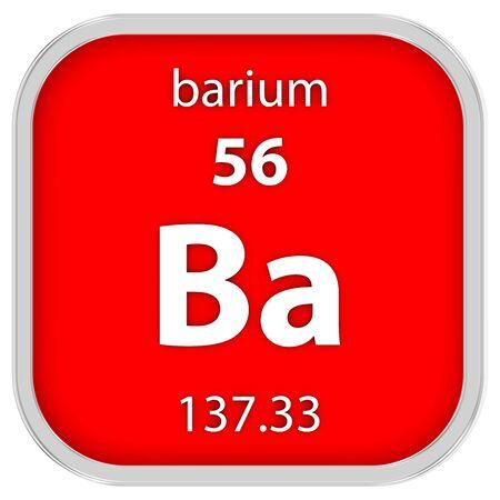 Barium material on the periodic table