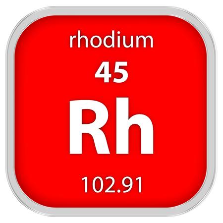 rhodium: Rhodium material on the periodic table