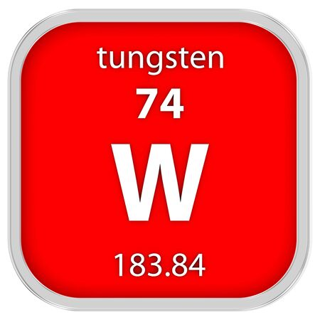 tungsten: Tungsten material on the periodic table