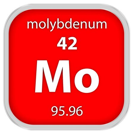 Molybdenum material on the periodic table photo
