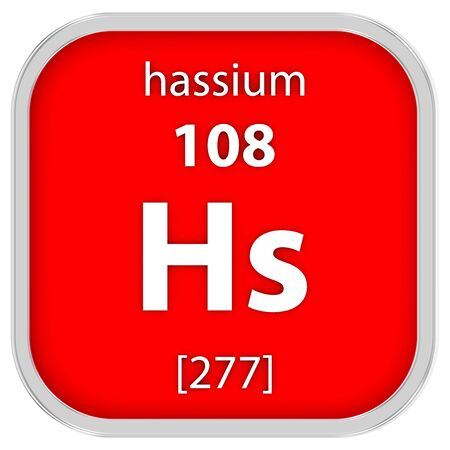 affinity: Hassium material on the periodic table