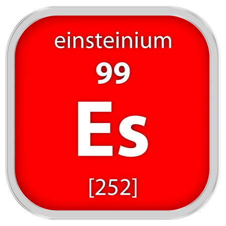 Einsteinium Material On The Periodic Table Stock Photo Picture And