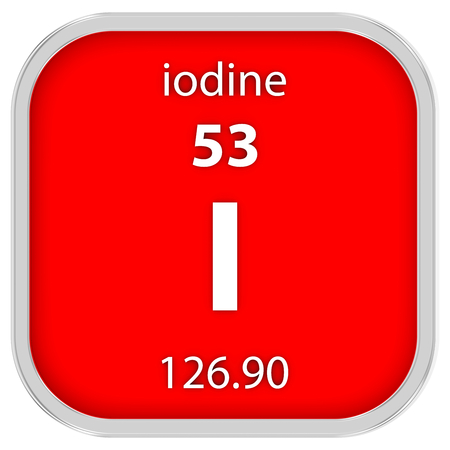 Iodine Material On The Periodic Table Stock Photo Picture And